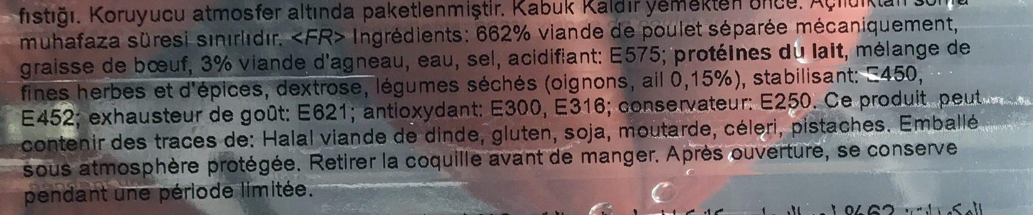 Saucisson à l'Ail Pimenté - Ingrediënten - fr