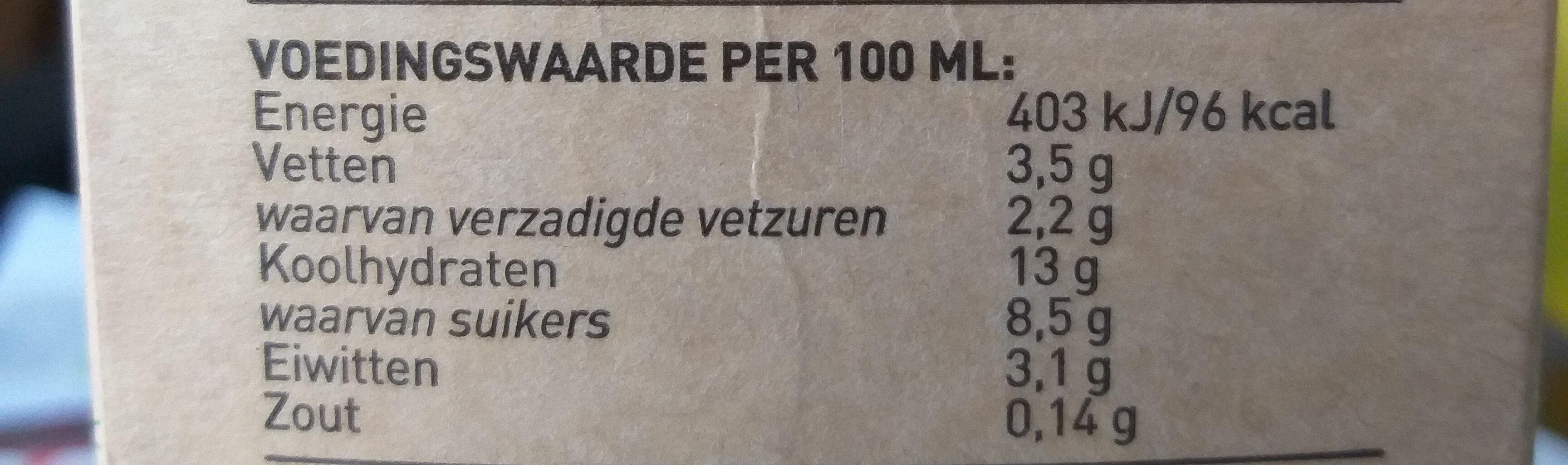 Den Eelder boeren vanille vla - Nutrition facts - nl