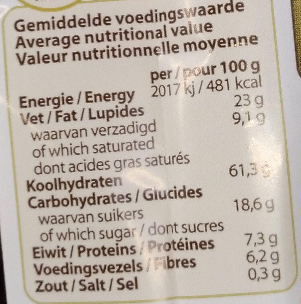 Billy's farm 5 grain cookies - Informations nutritionnelles