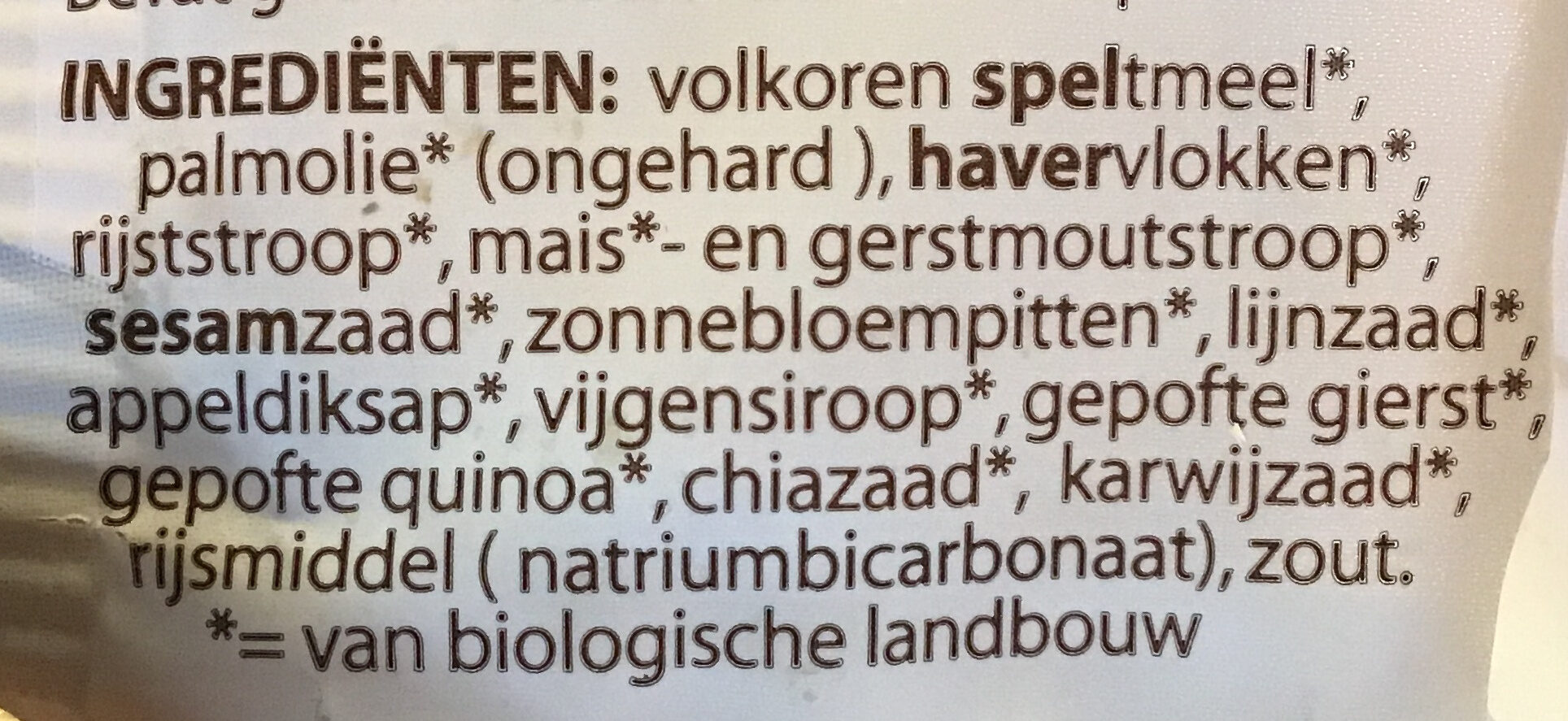 Spelt meerzadenkoek - Ingredients - nl