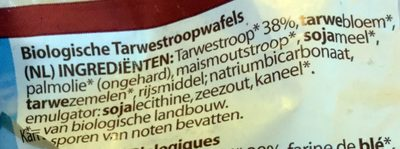 Tarwestroopwafels - Ingrediënten - nl