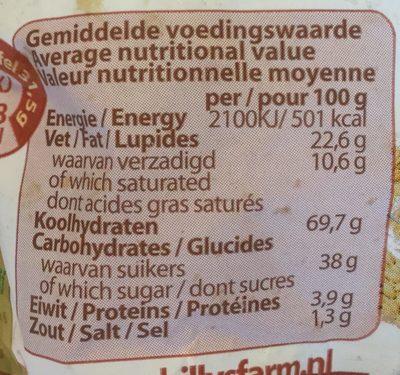 Tarwestroopwafels - Voedingswaarden - nl