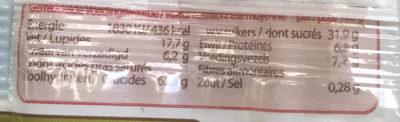 Spelt Fruitkoek - Nutrition facts - nl