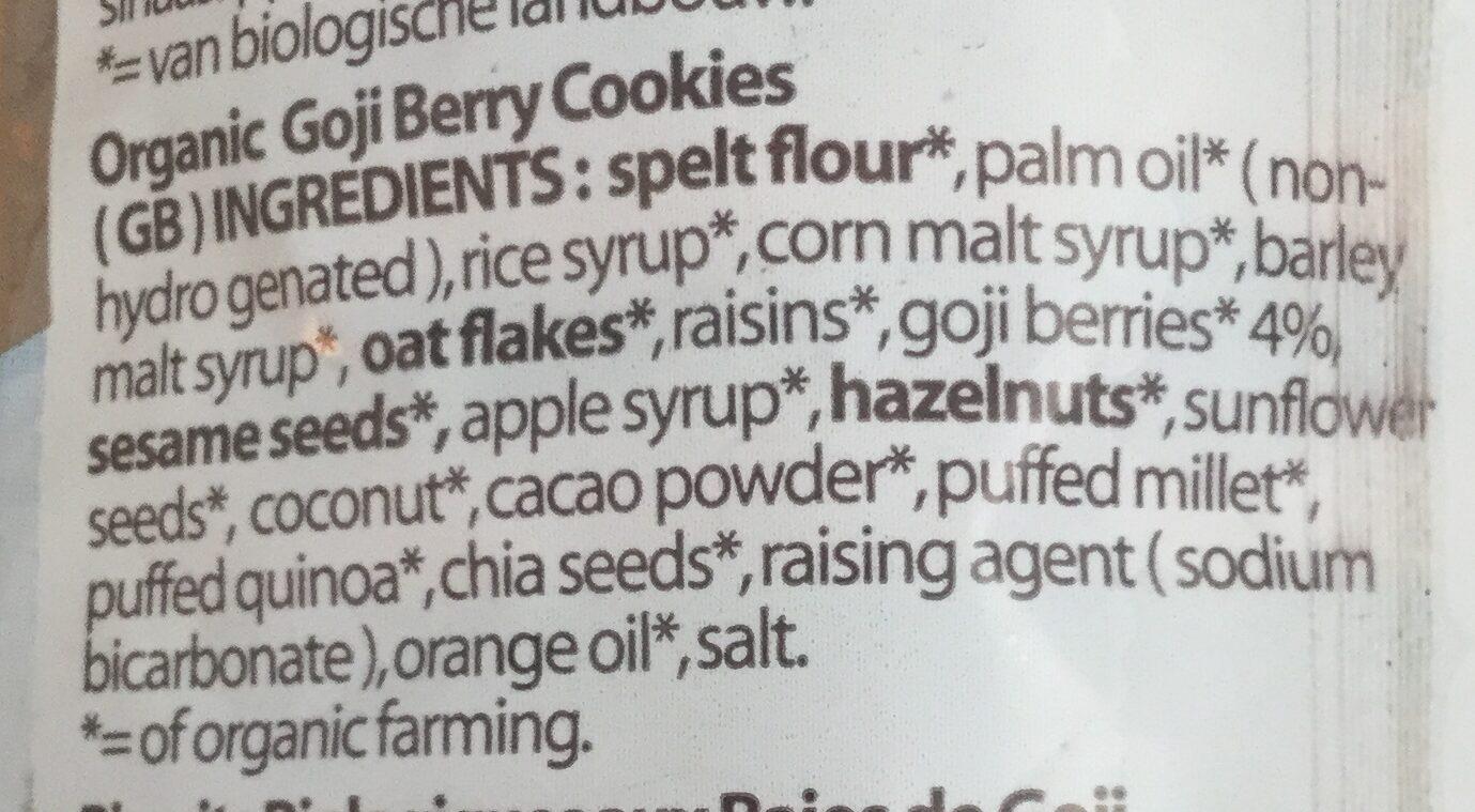 Goji Berry Cookies - Ingredients - en
