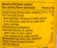 Carobella organic - Nutrition facts - es