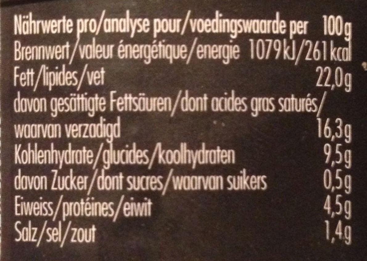 Faux Gras - Informations nutritionnelles - fr