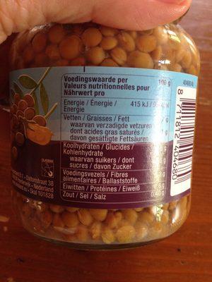 Ekoland Bruine Linzen - Ingrediënten