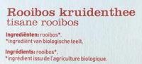 100% Rooibos - Ingrediënten