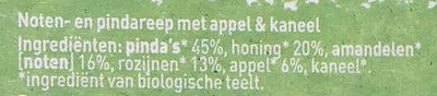 Notenreep appel kaneel - Ingredients