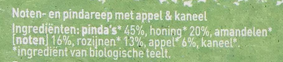 Notenreep appel kaneel - Ingrediënten