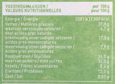 Notenreep appel kaneel - Nutrition facts