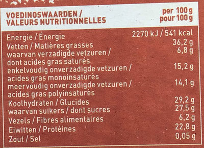 Notenreep amandel - Nutrition facts