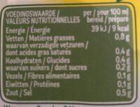 bouillon fines herbes - Nutrition facts - fr