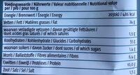Kikkererwtenchips - Nutrition facts - nl