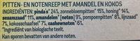 Pit&noten - amandel kokos - Ingredients - nl