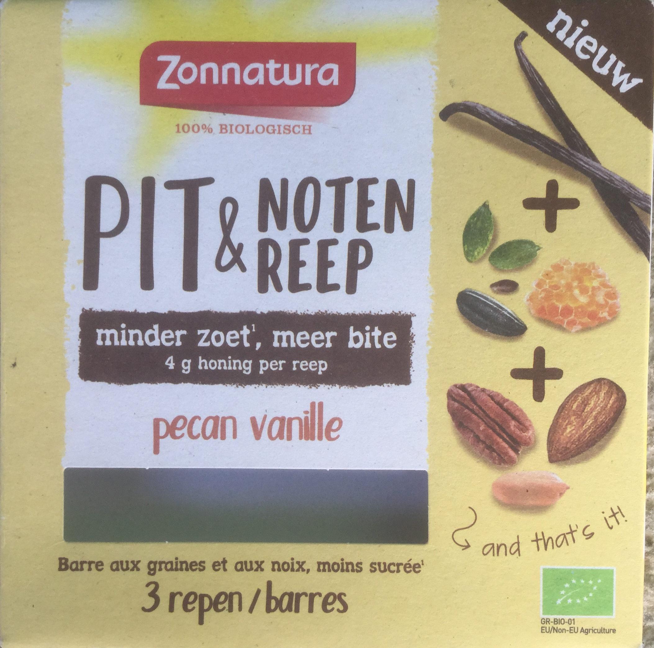 Pit & notenreep pecan vanille - Product