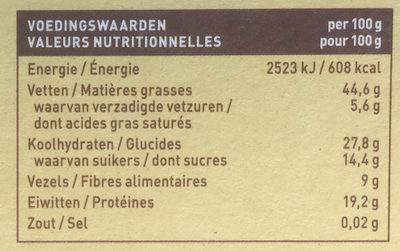 Pit & notenreep pecan vanille - Nutrition facts