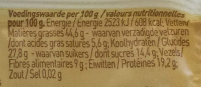 Pit&Notenreep - Nutrition facts - nl