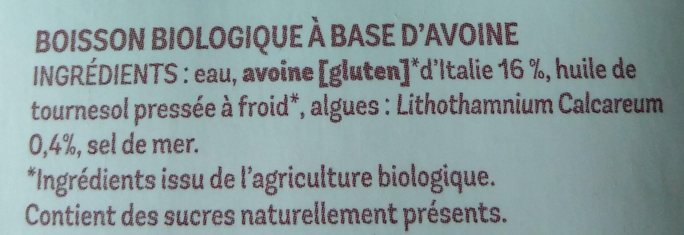 Avoine drink - Ingredients - fr