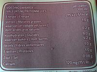 Avoine drink - Nutrition facts - fr