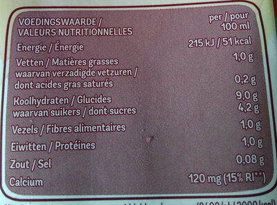 Avoine drink - Nutrition facts