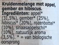 Intense mix gember - Ingrediënten - nl