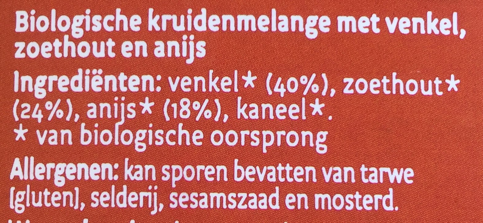Zoete mix - Ingredients - nl