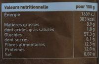 Muesli Pure Chocolade - Voedingswaarden - fr