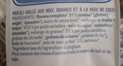 Granola au four - Ingrédients