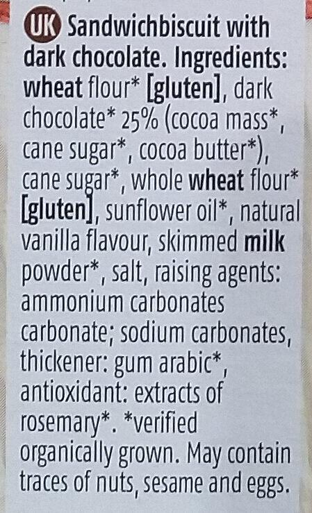 Choco Duo's - Ingredients - en