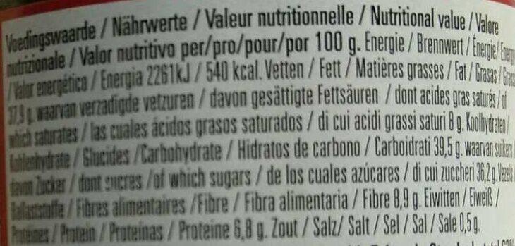 Chocoreale Puur Zartbitter - Informazioni nutrizionali - de