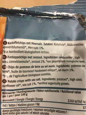 Kartoffelchips Meersalz - Zutaten - fr