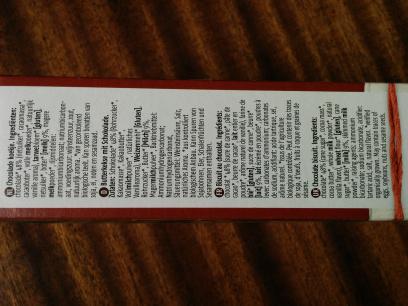 De Rit Tours de chocolat - Ingredients - en