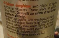 Rodeo Energy Drink - Ingrédients - fr