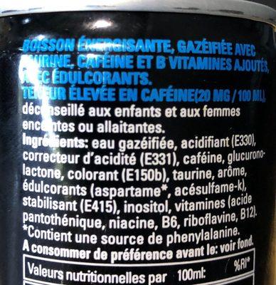 Energydrink - Ingrédients - fr