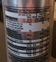 Regular Energy Drink taurine - Nutrition facts - fr