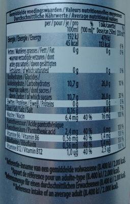 Energiedrank mit toegevoegde vitaminen. - Información nutricional - nl