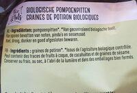 Graines de potiron biologiques - Ingredients