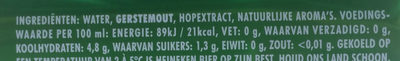 Heineken lager 0.0 - Nutrition facts