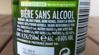Bière sans Alcool - Ingrédients - fr