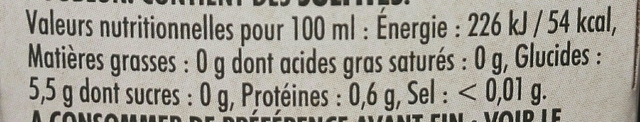Biere - Nutrition facts