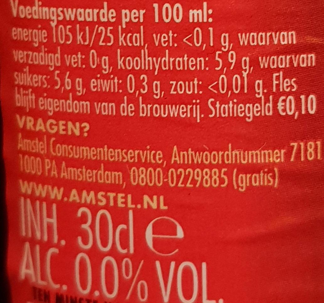 Bier 0,0% - Nutrition facts - de