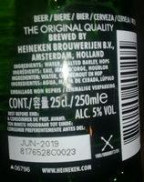 Bierre Heineken - Ingrédients - fr