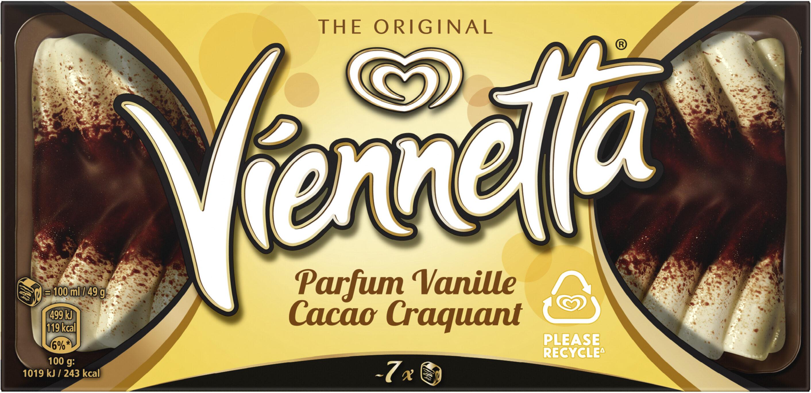 Viennetta Dessert Glacé Parfum Vanille Cacao Craquant 7 parts 650ml - Product - fr