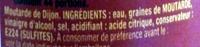 Moutarde de Dijon - Ingrédients