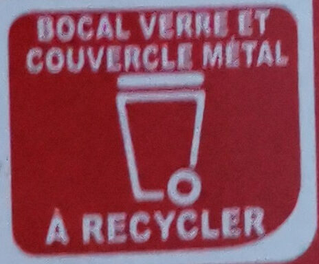 Amora Moutarde de Dijon Fine et Forte Bocal - Instruction de recyclage et/ou information d'emballage - fr