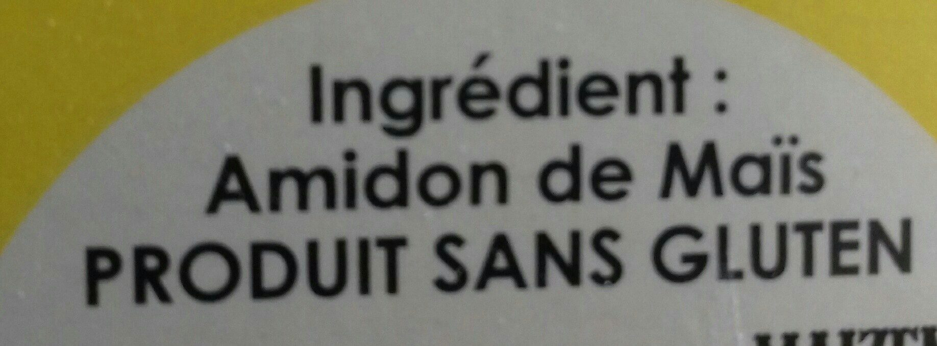 Maïzena Farine de Maïs Sans Gluten - Ingrédients - fr