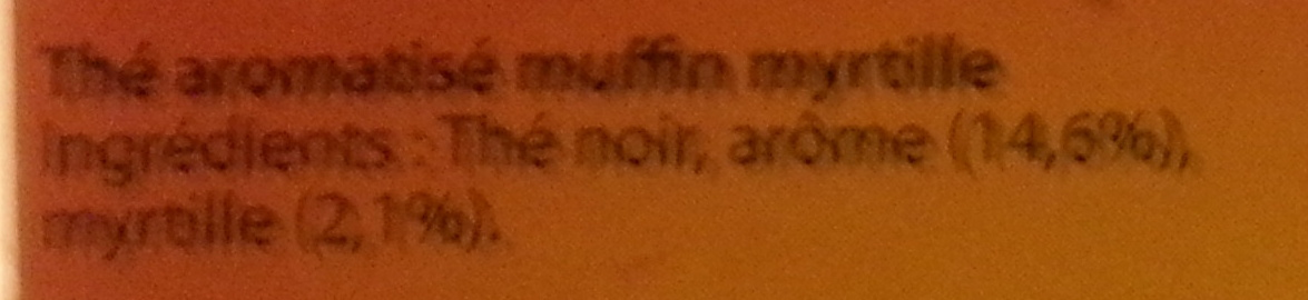 Thé façon Muffin Myrtille - Ingredients