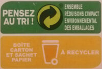 Maizena Fleur de Maïs Sans Gluten Format Familial - Instruction de recyclage et/ou informations d'emballage - fr