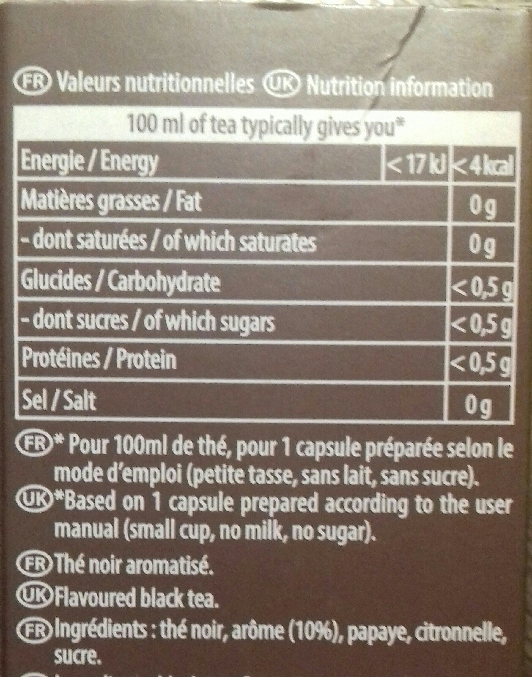 TO by lipton - Ingredients - fr